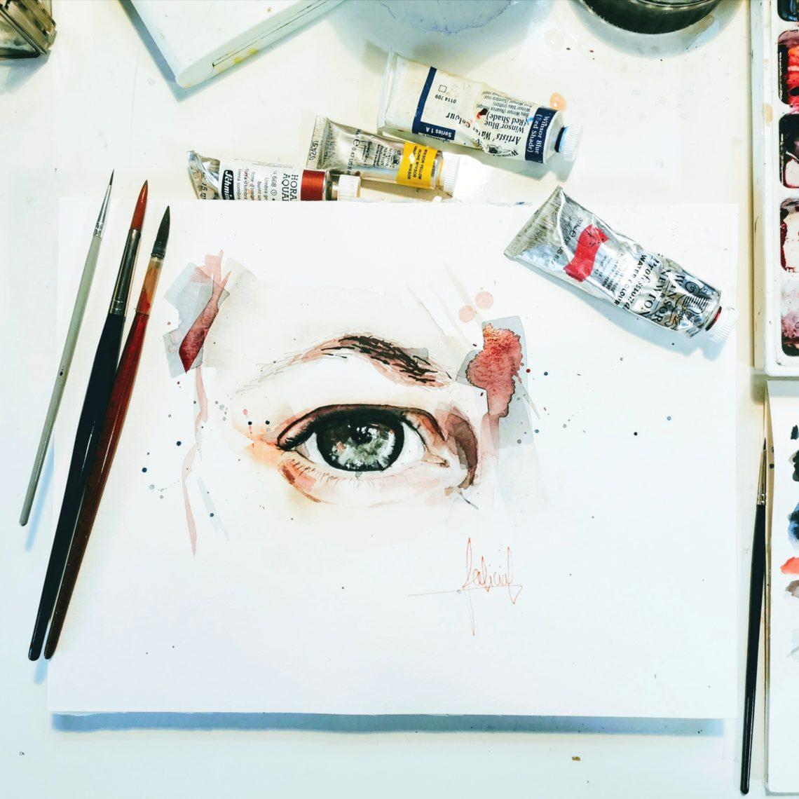 tableau de l'oeil et matériel